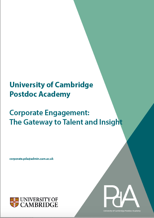 Postdoc Academy Corporate Engagement brochure