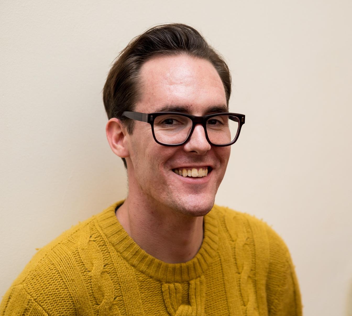 A portrait photograph of Steve Joy