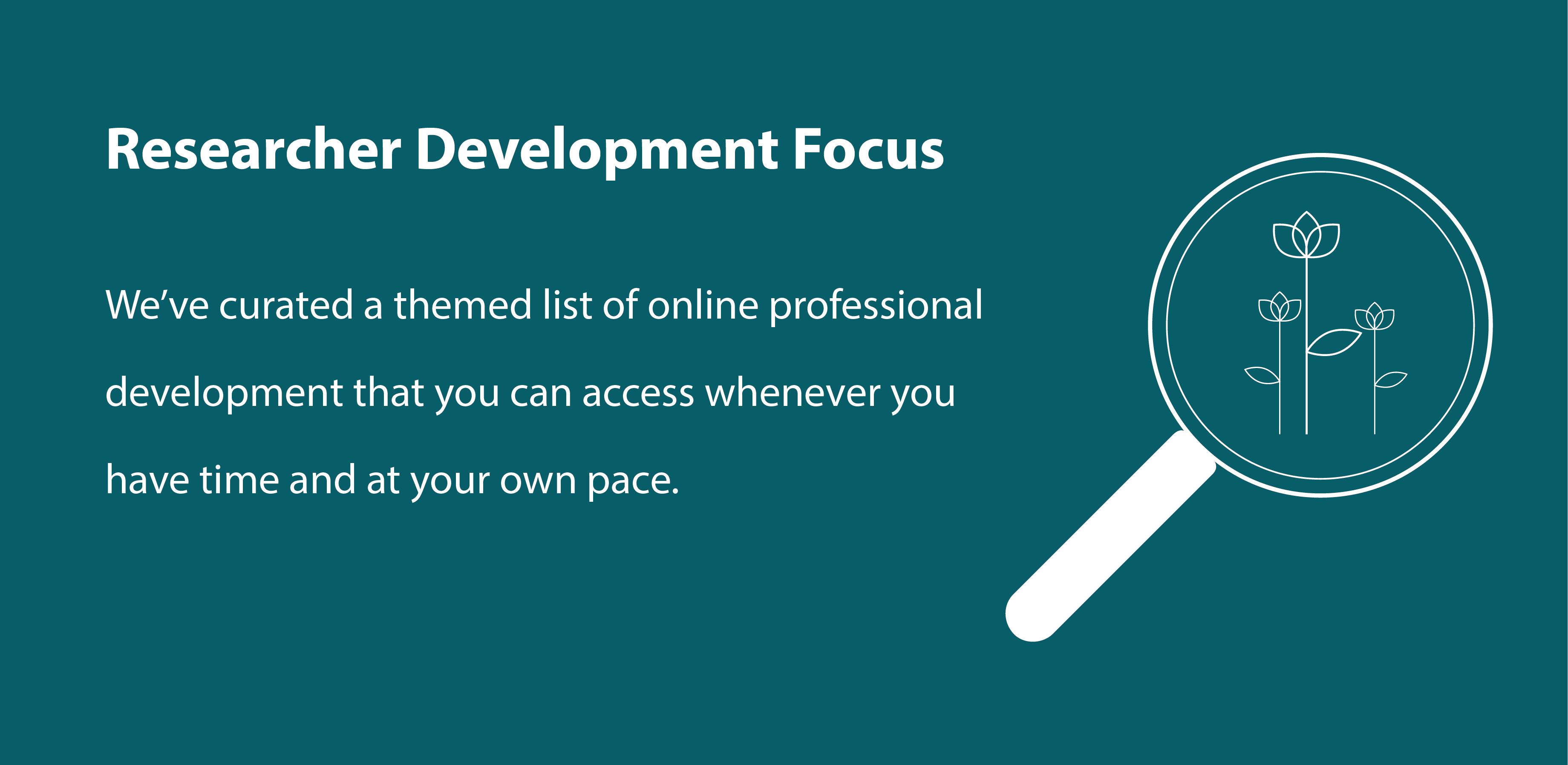 Online Researcher Development Resources